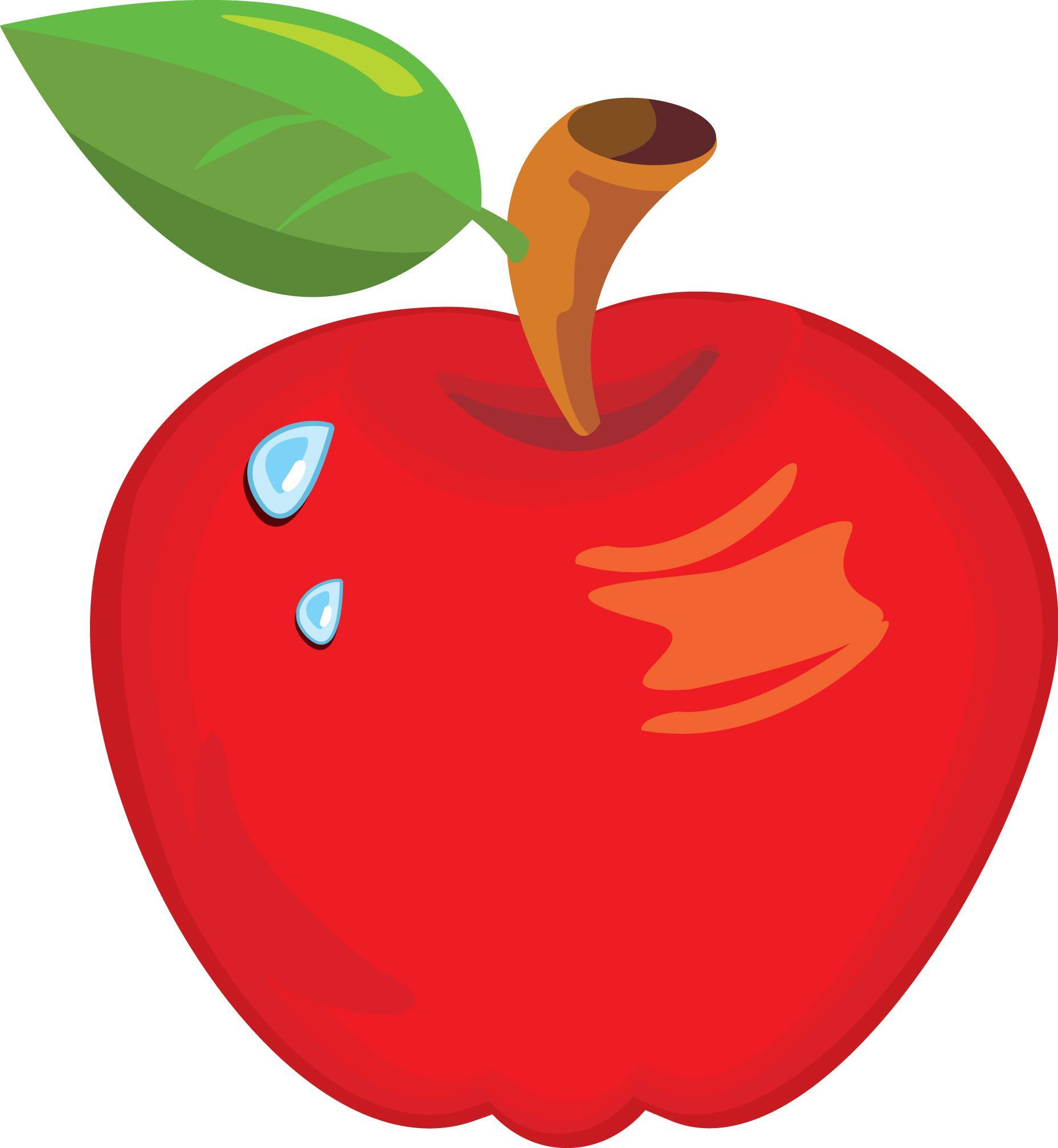 картинки для детей яблоко нарисованные